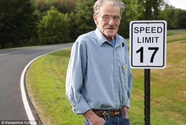 College honors retired professor David Kelly with 17 mph speed limit