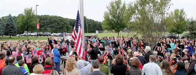 Chippewa Middle School celebrates National Anthem Day