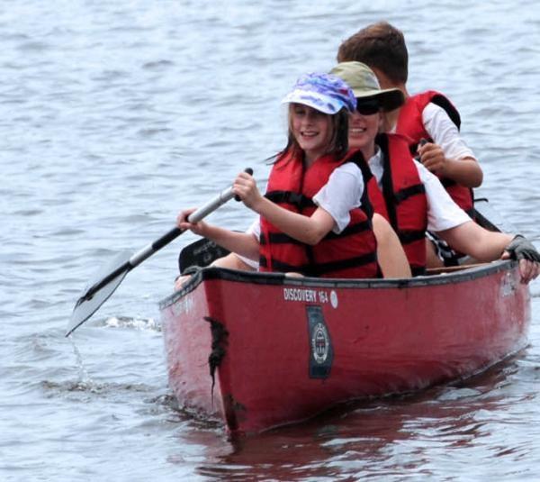 Paddlers enjoy National Canoe Day