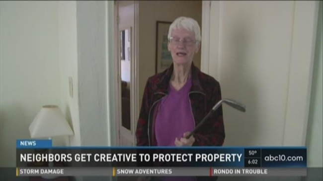 Woman keeps golf club by her bed as protection from burglars