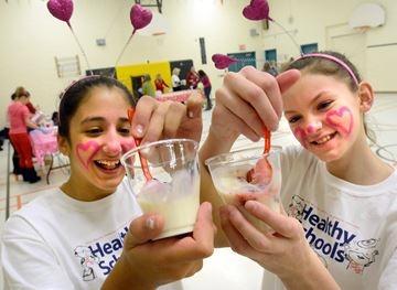 Aurora's Regency Acres Public School students mark parfait Valentine's Day