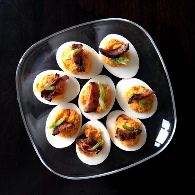 Kimchi Deviled Eggs {recipe}