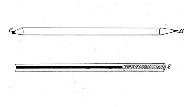 Almanac: Pencil with attached eraser