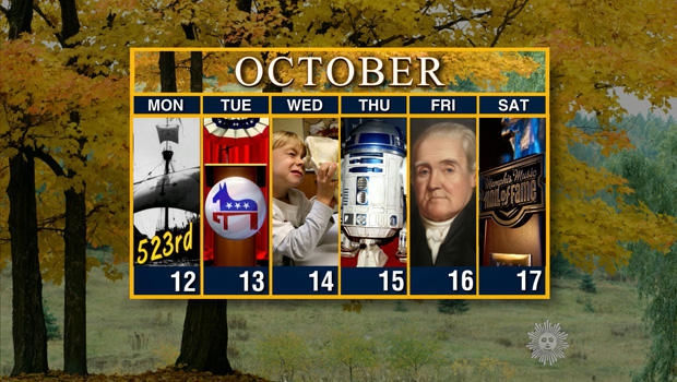 Calendar: Week of October 12